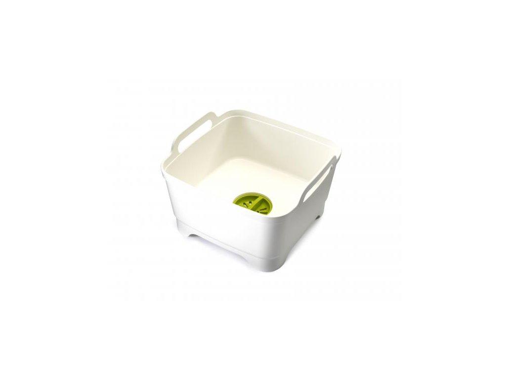 Umývacia nádoba s odtokovým uzáverom JOSEPH JOSEPH Wash&Drain™, biela