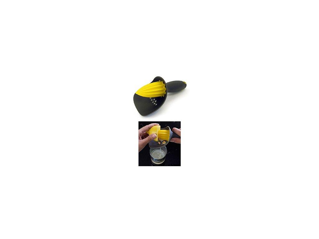 Odšťavovač so sitkom JOSEPH JOSEPH Catcher ™, šedý / žltý