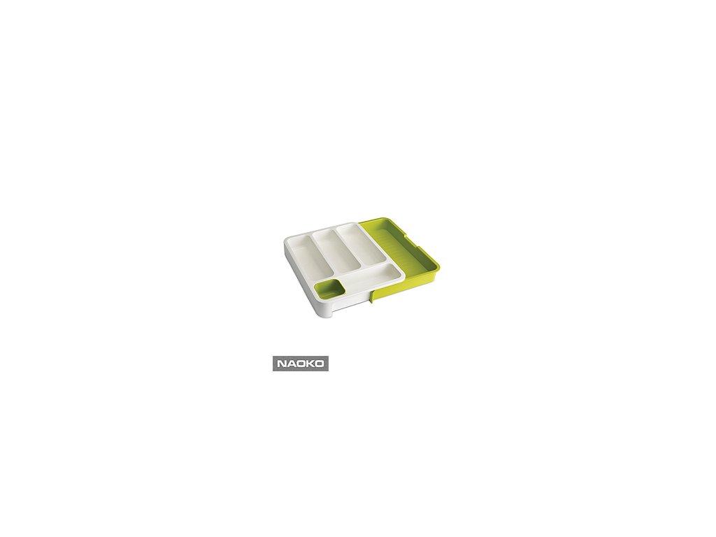 Priehradky na príbory JOSEPH JOSEPH DrawerStore ™, biele / zelené