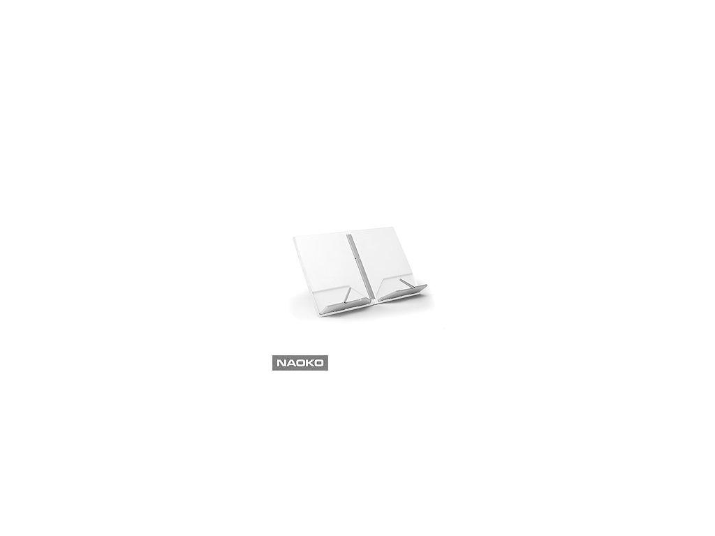Skladací stojan na kuchárku JOSEPH JOSEPH Cookbook ™, biely / šedý