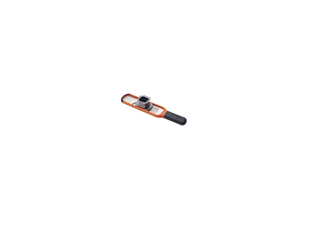 Strúhadlo s plátkovačom JOSEPH JOSEPH Handy-Grate ™, oranžové