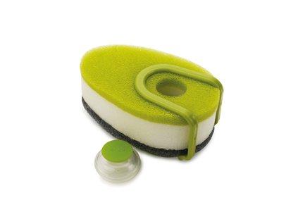 Sada hubiek s dávkovačom saponátu JOSEPH JOSEPH Soapy-Sponge ™, zelená